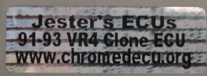 91-93 US VR4 Sticker